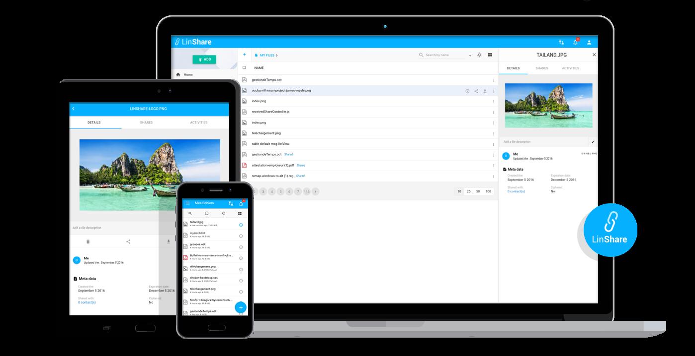 LinShare: Open Source secure sharing, big file upload