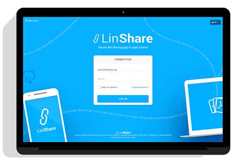 image demo login LinShare